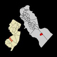Chesilhurst Map, Camden Co, NJ