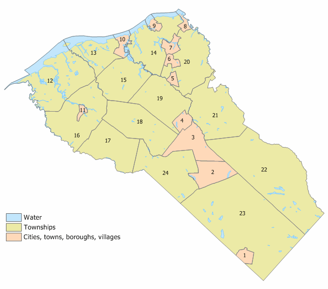Gloucester County NJ Map