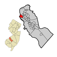 Gloucester City Map in Camden County