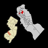 Haddon Twp Map in Camden Co