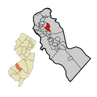 Haddonfield Map in Camden County
