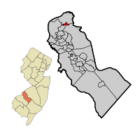 Merchantville in Camden Co Map