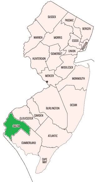 Salem County, NJ Map