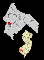 Salem City in Salem Co, NJ Map