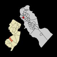 Mount Ephraim within Camden Co Map